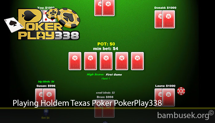 Playing Holdem Texas Poker PokerPlay338